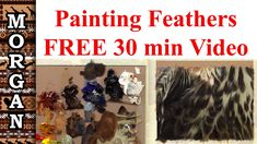 How to Paint Feathers, painting lesson - realism - Jason Morgan wildlife...