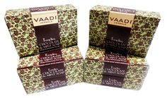 Chocolate and Mint Bar Soap - Deep Moisturising Therapy - Handmade Herbal Soap (Aromatherapy) with 100% Pure Essential Oils - ALL Natural - Best Moisturizer - Each 2.65 Ounces - Pack of 6 (16 Ounces) - Vaadi Herbals *** Special  product just for you. See it now! : Skin care