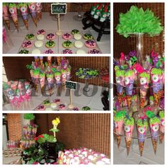 Mesa de dulces hadas, fairy candy bar.