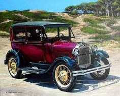 Pintura Moderna al Óleo: Bonitas pinturas de carros antiguos 10 Basic Things Every Car Owner Should Know It's so easy to get a car these days. Vintage Trucks, Old Trucks, Mercedes Sport, Ford Classic Cars, Ford Models, Hot Cars, Cars And Motorcycles, Vintage Posters, Luxury Cars