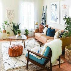 Marrakesh Gallery Moroccan Pouf - Genuine Goatskin leather - Bohemian Living Room Decor - Hassock &