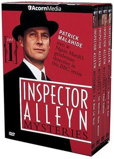"The Inspector Alleyn Mysteries, Set 1 From the ""golden age"" of the British mystery comes a hard-working Scotland Yard detective whose breeding and bearing give Detective Series, Mystery Series, Mystery Books, Midsomer Murders, Tv Detectives, Bbc Tv Series, English Movies, Me Tv, Classic Tv"