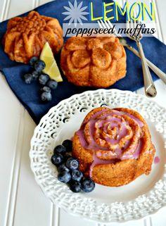 Lemon Poppyseed Muffins from SomewhatSimple.com #recipe