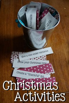 44 different Christmas Traditions and Activities with a free printable! Have more fun with your family this holiday season! #Christmas #Holiday #Traditions