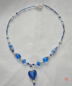 The Heart of The Sea glass beeded necklace. by JayMurray on Etsy, £15.00