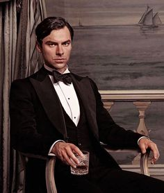 "Aidan Turner as Philip Lombard in ""And Then There Were None"" BBC"