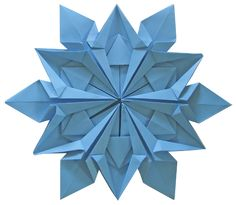 modular snowflake. inner points...ribbon fold in lace