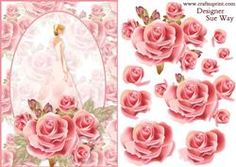Delicate Rose Card Front and Decoupage