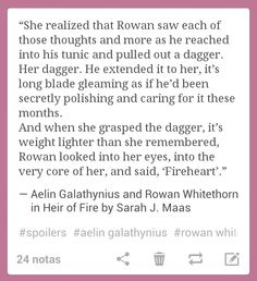 Heir of Fire - this part between Aelin and Rowan was so powerful.