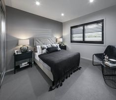 BEDROOM - Synergy Premier Twin with Edge 2 Facade on display at Oran Park Custom Home Designs, Custom Homes, Home Bedroom, Bedrooms, New Home Builders, Investment Property, Facade, Twin, New Homes