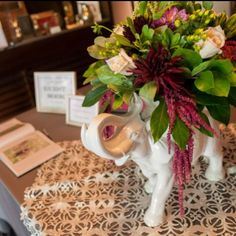 We love how Kjerstine Loftus filled Z Gallerie's Ceramic Elephant with gorgeous flowers at her wedding!