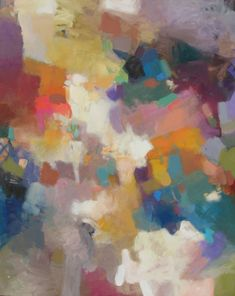 Peacock Farm 48x60- Mactruque, another great big, bold and colorful abstract