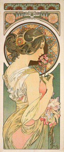 Alphonse Mucha (1860-1939). Primrose. 1899. Colour lithograph. Mucha Museum - Prague - Czech Republic