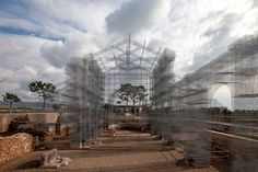 Artist Edoardo Tresoldi has built an interpretation of an early Christian church that once stood in its place at the current Archaeological Park of Siponto, Italy.