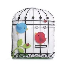Bird Cage pillow... Too cute!