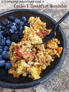 paleo breakfast scramble -- great camping food