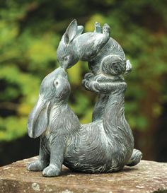 Charleston Gardens: Your source for seasonal and holiday decor, artisan-crafted home and garden furnishings and memorable gifts. Garden Statues, Garden Sculpture, Dream Garden, Home And Garden, Charleston Gardens, Gazebos, Keramik Design, Deco Nature, Rabbit Art