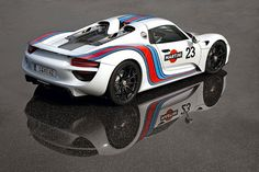 Porsche 918 Spyder - Inspiring because it is part of a group of revolutionary electric hypercars