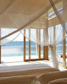 The 50 villas on the property are tucked away along the sand; here's an Ocean Front Villa. #Jetsetter #JSHoneymoon