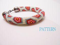 Come la coperta della nonna - Schema bracciale  crochet - Crochet rope pattern - Esagoni all'uncinetto - File pdf by Calliphorabeads on Etsy