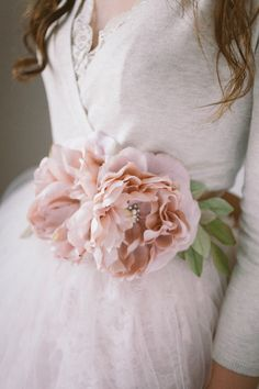 Blush Silk Flower Bridal Sash Bridal Belt by abigailgracebridal Wedding Dress Sash, Wedding Belts, Bridal Sash, Bridal Dresses, Blush Flowers, Silk Flowers, Fabric Flowers, Wedding Hair Flowers, Bridal Flowers
