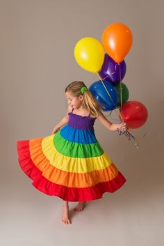 Home of the twirly Rainbow Dress for girls and toddlers. Perfect for a Rainbow Birthday Party or a memorable gift for your little girl. Girls Frock Design, Baby Dress Design, Baby Girl Dress Patterns, Baby Dress Tutorials, Frocks For Girls, Kids Outfits Girls, Little Girl Dresses, Baby Dresses, Baby Frocks Designs
