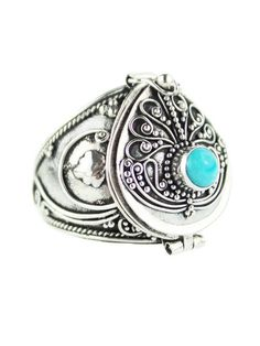 My Queen Turquoise Poison Box Ring http://www.shopdixi.com/collections/rings/products/my-queen-turquoise-poison-box-ring