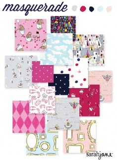 More 'Let's Pretend' by Sarah Jane Studios for Michael Miller Fabrics. The girl colorway is calling my name.