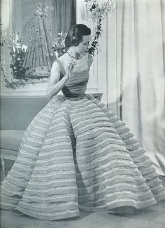 Evening gown by Dognin, 1951