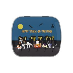 #affiliatelink #promo Happy Trick or Treating! Jelly Belly Candy Tin #dogs #cats #pets #animals #halloween #JellyBellyCandyTin #halloweenfavors #halloweenparty #halloween #halloweenentertaining #zazzle Halloween Party Favors, Halloween Candy, Jelly Bean Flavors, Halloween Entertaining, Halloween Moon, Butter Popcorn, Toasted Marshmallow, Free Candy, Jelly Belly