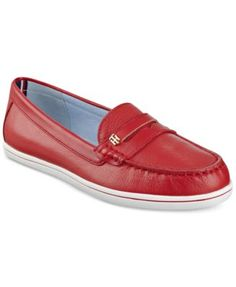 Tommy Hilfiger's Butter loafers feature classic penny loafer styling in a variety of sophisticated color schemes for an office look with distinction. | Leather or fabric uppers; manmade sole | Importe