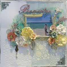 Sunshine Beauty - Really love the textured looking background  and the beautiful frame idea!