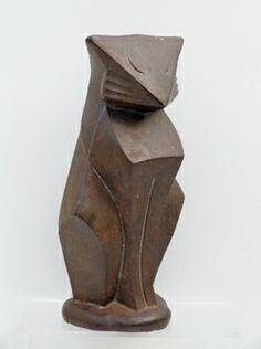 "cubist Hubley cast iron Cat doorstop  9 7/8"" tall, 5"" W, 3 1/2"" Depth"