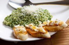 Reteta de orez cu spanac in stil toscan. Cum se face risotto cu spanac. Retete originale italiene de risotto vegetariene. Rissoto sau rizoto. Retete cu poze.