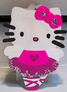 Handmade Ballarina Hello Kitty Card Cardstock by justcreativecards, $4.00