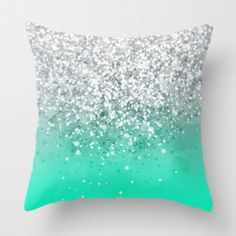 Sparkly dripping pillow