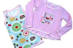 Pullover & Sweatshirts - Mädchenshirt und Pulli   Gr.122/128 türkis rosa  - ein Designerstück von C-Fashion-Design bei DaWanda
