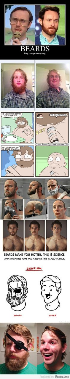 Shaving - Before And After