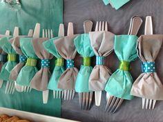 serviettes papier papillons décoration de fêtes