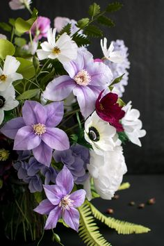 Garden and Wildflower paper flower bouquet by Crafted to Bloom