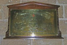 Stainborough WW1 Memorial Tablet, All Saints Church, Silkstone, U.K. - World War I Memorials and Monuments on Waymarking.com