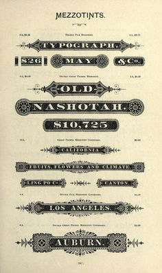 Palmer & Rey's Third Revised Specimen Book and Price List of Printing Material (ca. 1887)