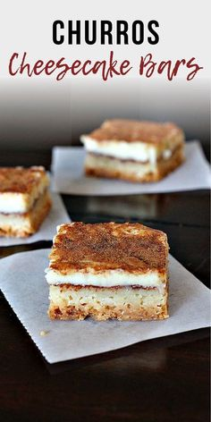 Super easy, super addictive, very kid friendly dessert. Delicious Mexican dessert for any party. Especially Cinco-de-Mayo. Absolutely Delicious with flavor.  #churros #cheesecake #mexican #dessert #cheesecakebars Dump Cake Recipes, Easy Cheesecake Recipes, Easy No Bake Desserts, Cheesecake Desserts, Homemade Desserts, Great Desserts, Sopapilla Cheesecake Bars, Hot Chocolate Sauce, Tolle Desserts
