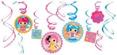 Party Time Celebrations  - Lalaloopsy Party Hanging  Decorations, $10.95 (http://www.partytimecelebrations.com.au/lalaloopsy-party-hanging-decorations/)