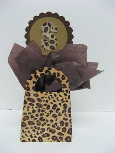 leopard cheetah table decoration 2 in listing by missdaisyw, $20.00