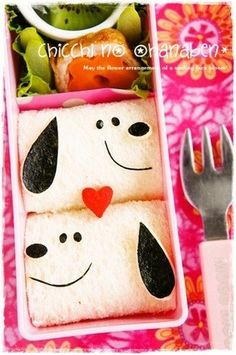 * Character Bento * Snoopy Sandwiches ★
