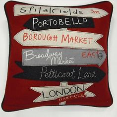 Sign Post Pillow Cushion - I'd been thinking of making an actual sign post, but this is really cute!