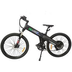 New Electric Bike Matt Black Electric Bicycle Mountain Lithium Battery City Ebike, Electric Mountain Bikes