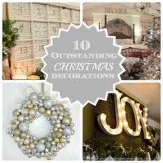 10 Outstanding Christmas Decorations Round Up