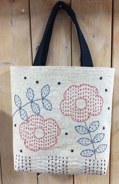 ° Sakura arbeitet zu Hause – bordados - My CMS Hand Embroidery Videos, Hand Embroidery Stitches, Hand Embroidery Designs, Embroidery Techniques, Embroidery Patterns, Sashiko Embroidery, Embroidery Bags, Creative Embroidery, Japanese Embroidery